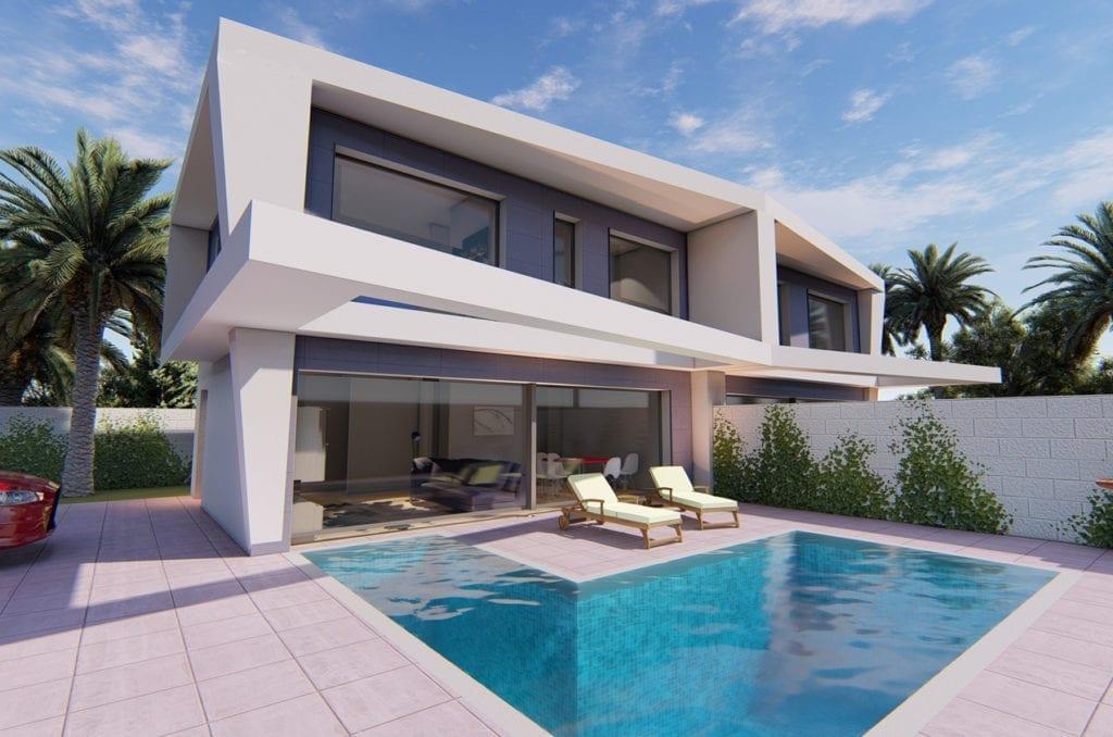image Maison moderne à construire Gran Alacant Espagne