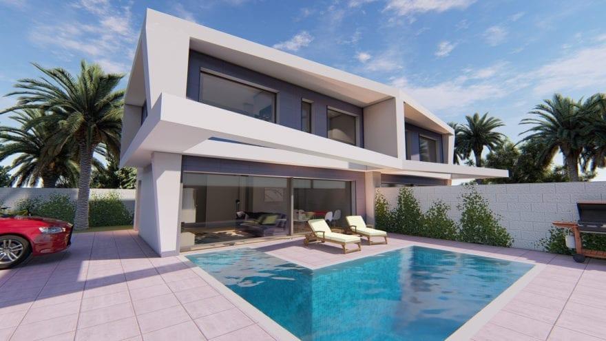 Maison moderne à construire Gran Alacant Espagne ...