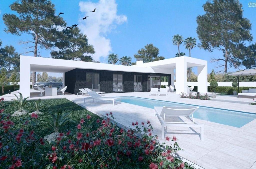 image Maison plain-pied vue mer à vendre à Moraira