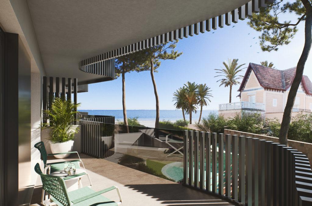 image appartement bord de mer Espagne