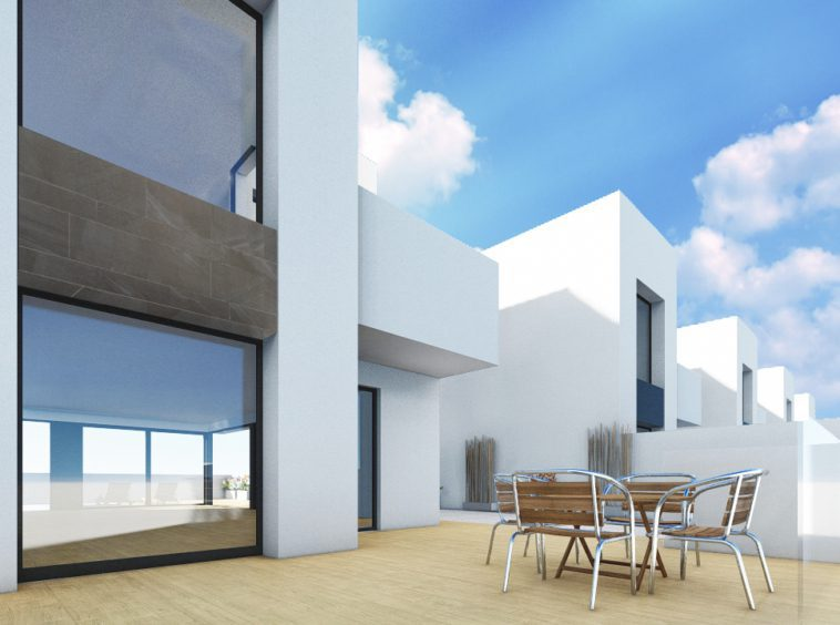 image houses with garage in spain